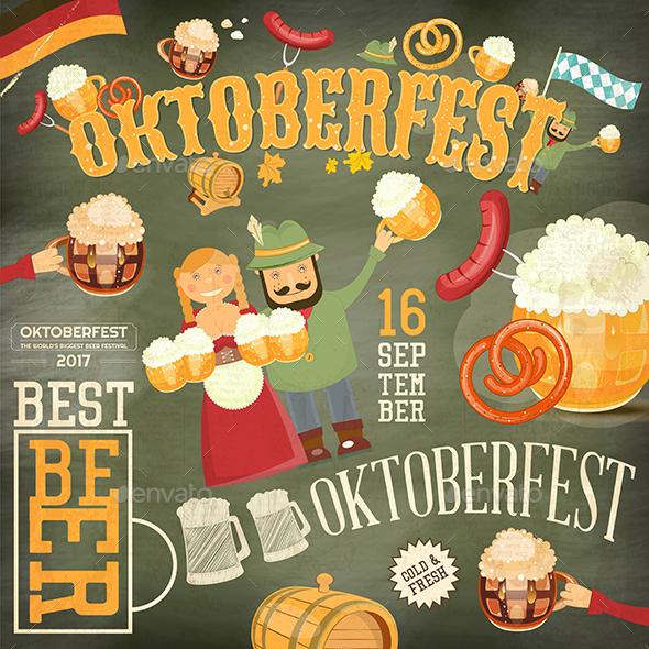 Oktoberfest Beer Festival - Food Objects