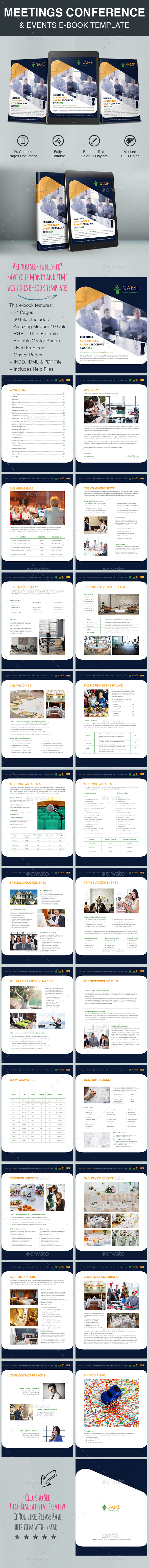 GraphicRiver Meetings Conference & Events E-Book Template 20407421
