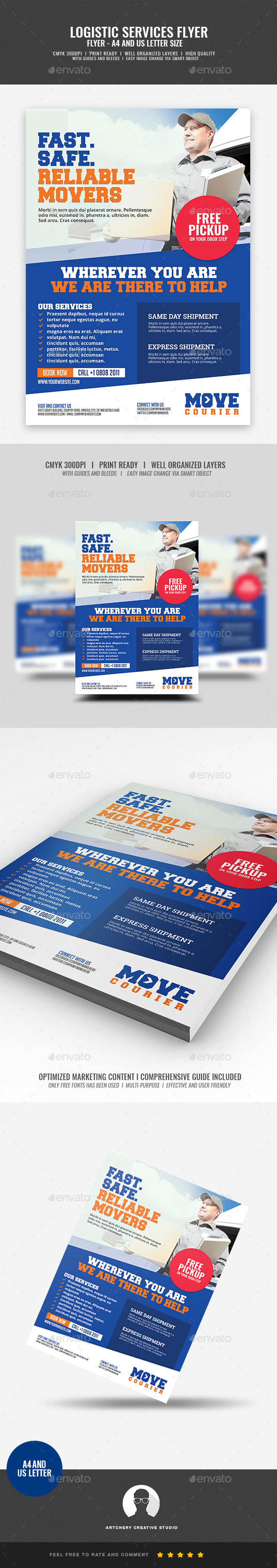 Logistic Services Flyer - Commerce Flyers