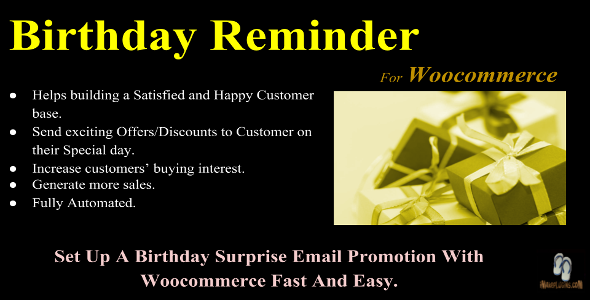 CodeCanyon Birthday Reminder For Woocommerce 20469130