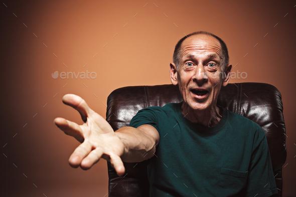 Portrait of surprised mature man