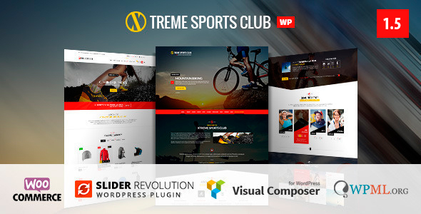 Xtreme Sports - WordPress Club Theme - WooCommerce eCommerce