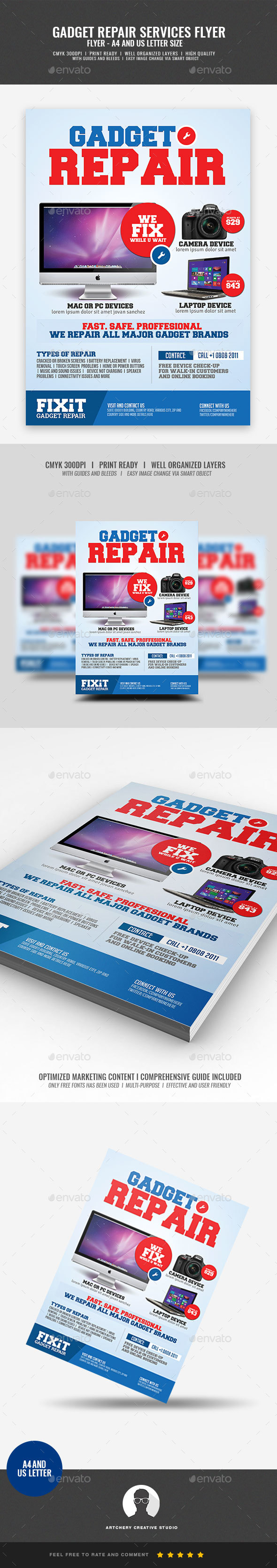 Electronic Gadget Repair Flyer - Commerce Flyers