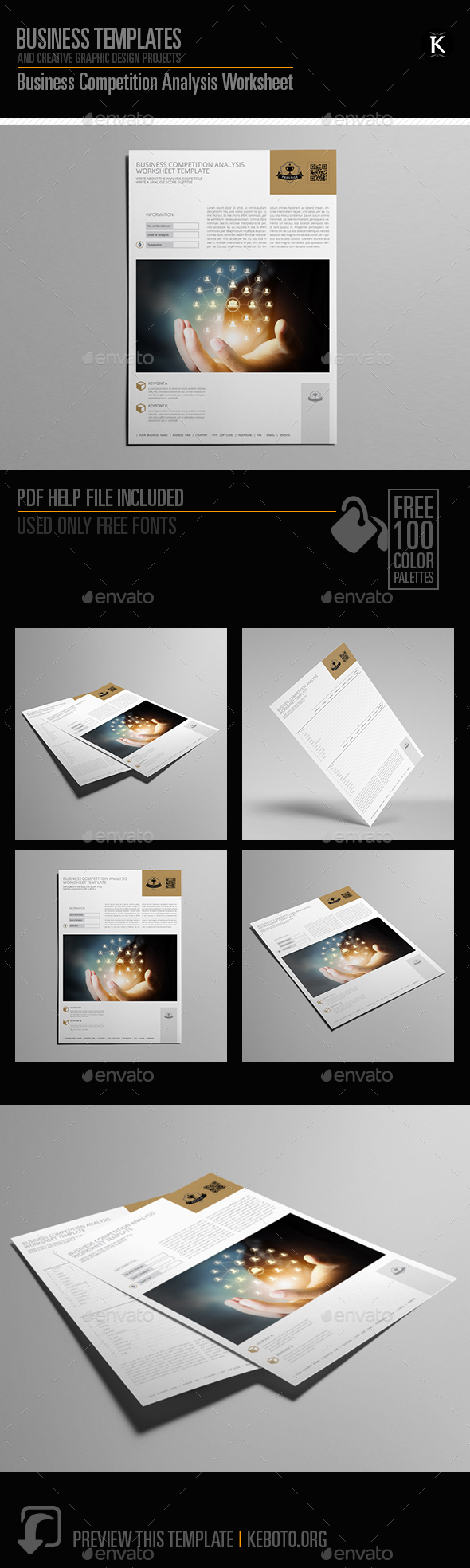 GraphicRiver Business Competition Analysis Worksheet 20467749
