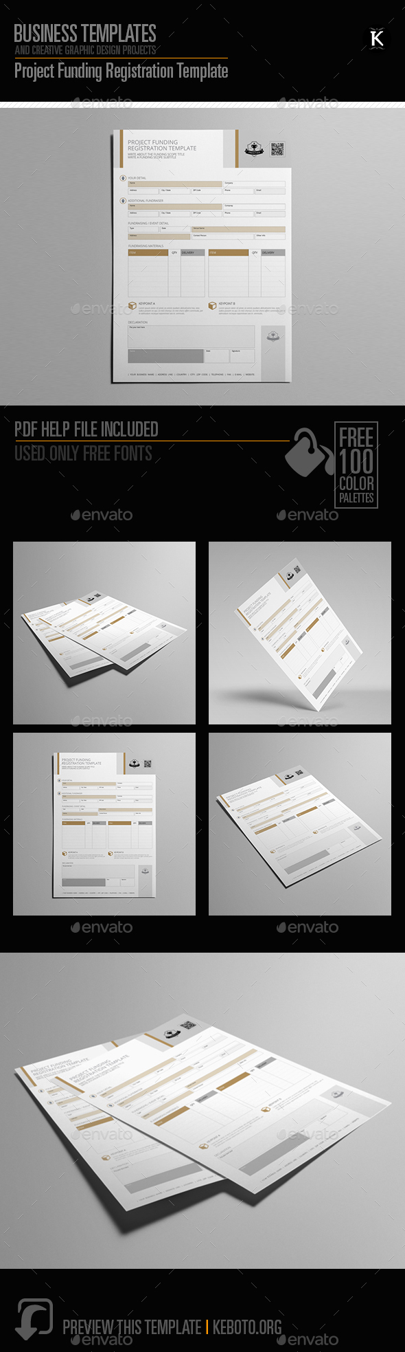 GraphicRiver Project Funding Registration Template 20469284