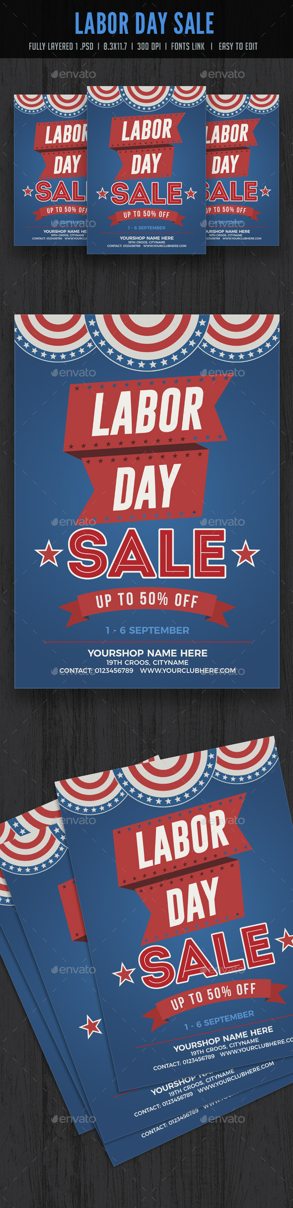 Labor Day Sale Flyer Poster - Events Flyers