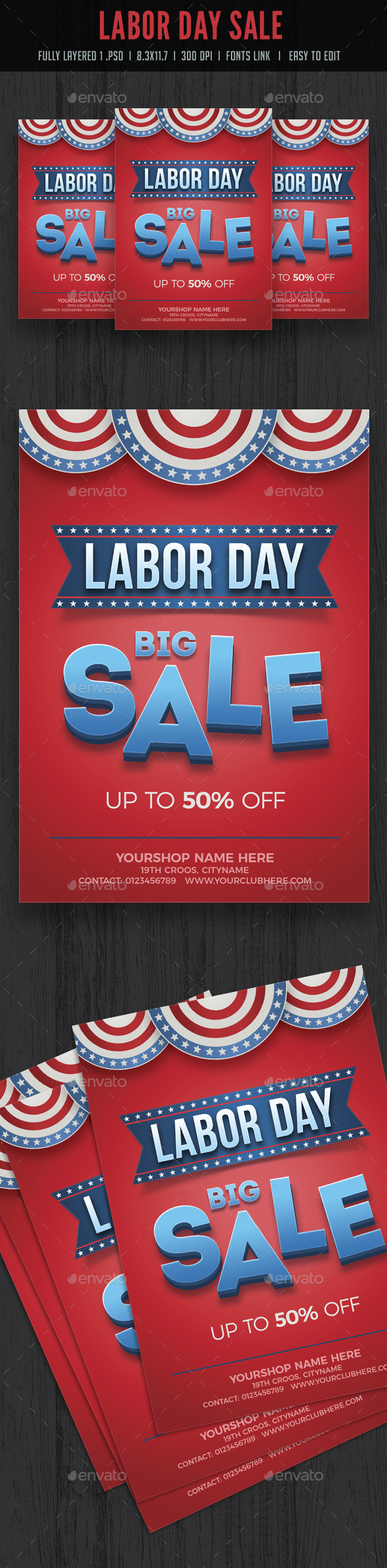 Labor Day Sale Flyer - Flyers Print Templates