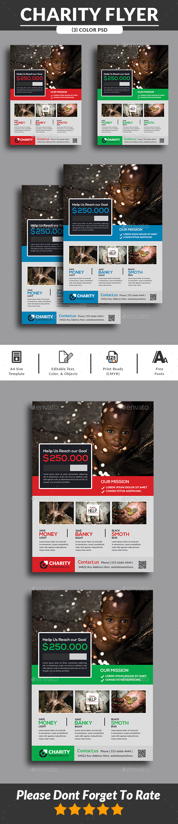GraphicRiver Charity Fundraisers Flyer 20469700