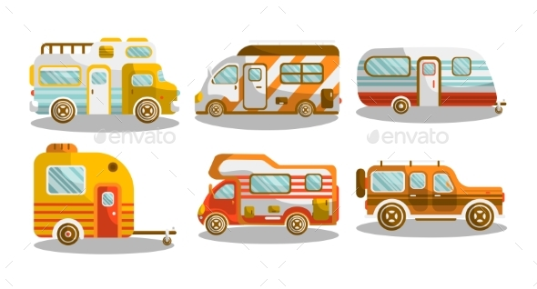 GraphicRiver Camping Bus or Camper Van Vector Illustration 20469836