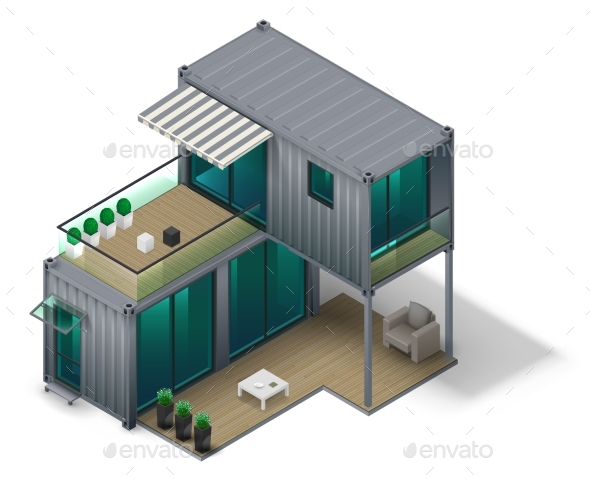 GraphicRiver Container House Concept 20469860