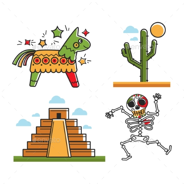 GraphicRiver Mexican National Symbols 20470040