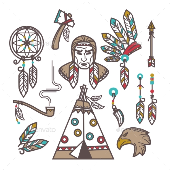 GraphicRiver Indian Items Set 20470140