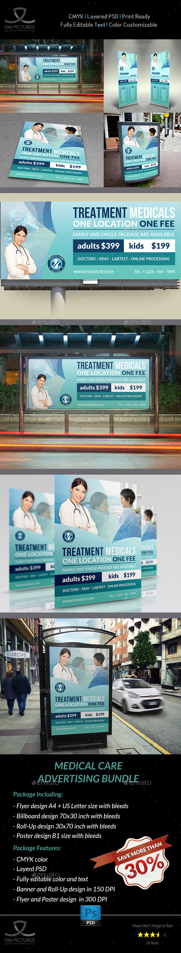 GraphicRiver Medical Care Advertising Bundle Vol.2 20470164
