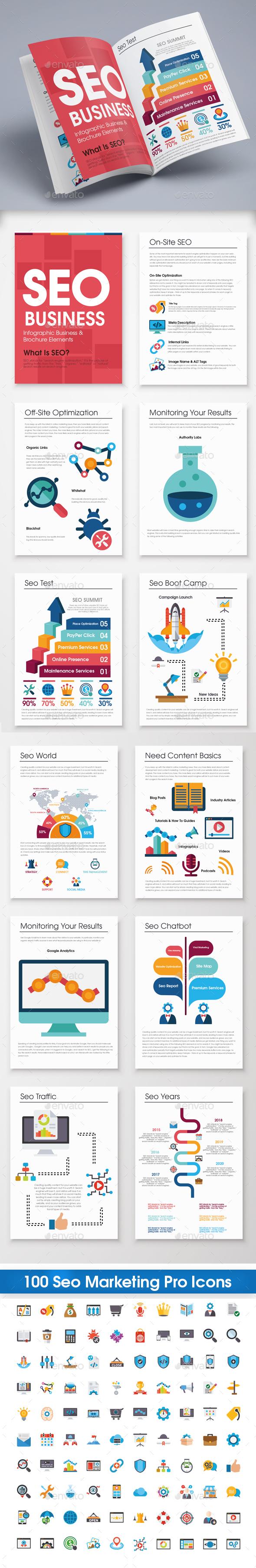 Seo Infographic Brochure - Infographics