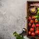 Cherry tomatoes with fresh basil and olive oil - PhotoDune Item for Sale