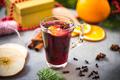 Festive mulled wine for Christmas