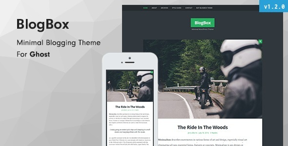 BlogBox - Minimal and Bold Ghost Theme - Ghost Themes Blogging