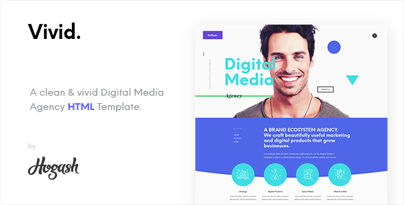 Vivid - Digital Media Agency One page HTML template