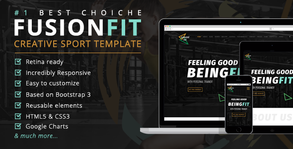 ThemeForest FusionFit Creative Sport Template 20304306