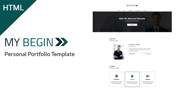 My Begin - Personal Portfolio HTML Template
