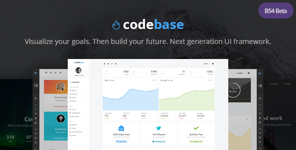 Codebase - Bootstrap 4 Admin Dashboard Template + UI Framework - Admin Templates Site Templates