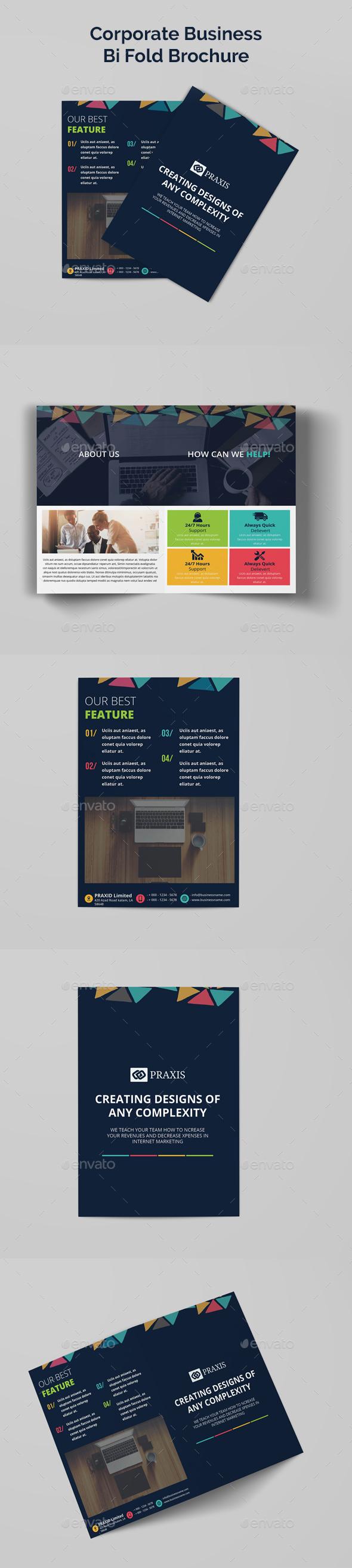 Corporate Business Bi Fold Brochure - Corporate Brochures