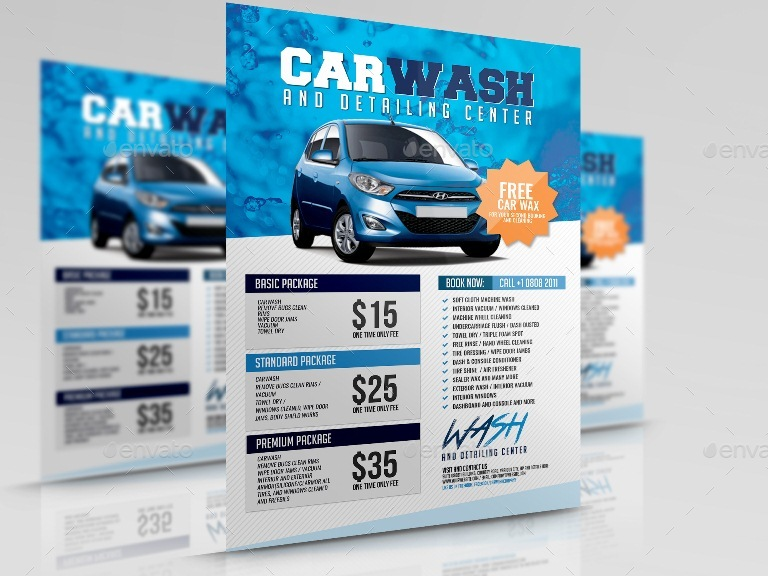 Car Wash Flyer By Artchery  Graphicriver