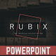 Rubix Powerpoint Template - GraphicRiver Item for Sale