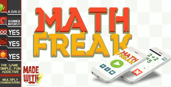 Math Freak AdMob ( Banner + Interstitial )