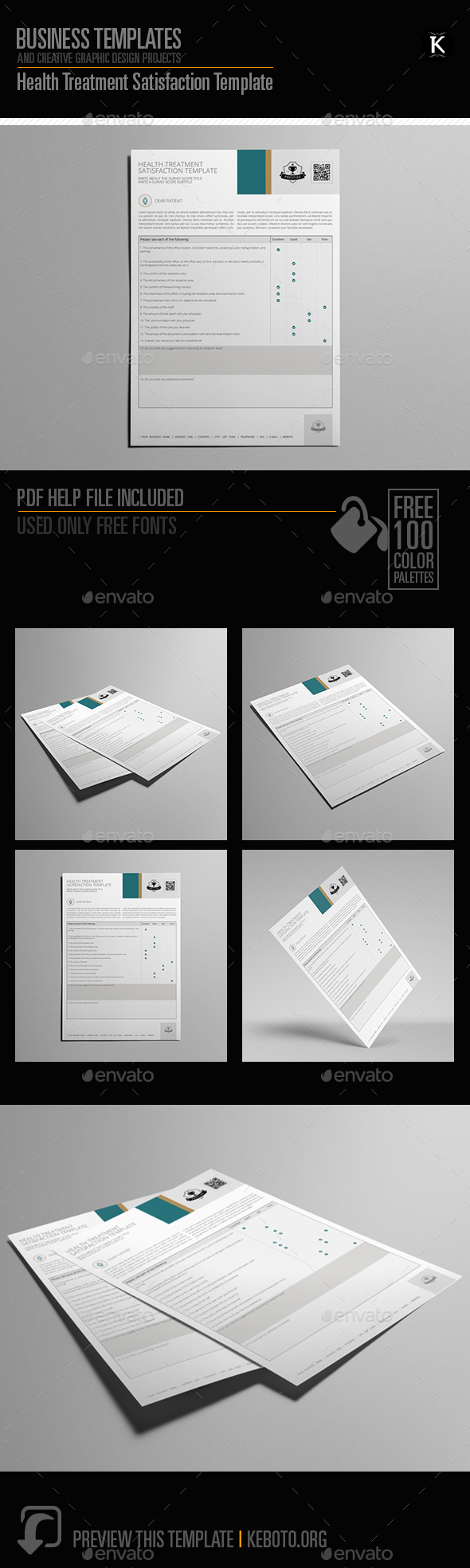 Health Treatment Satisfaction Template - Miscellaneous Print Templates