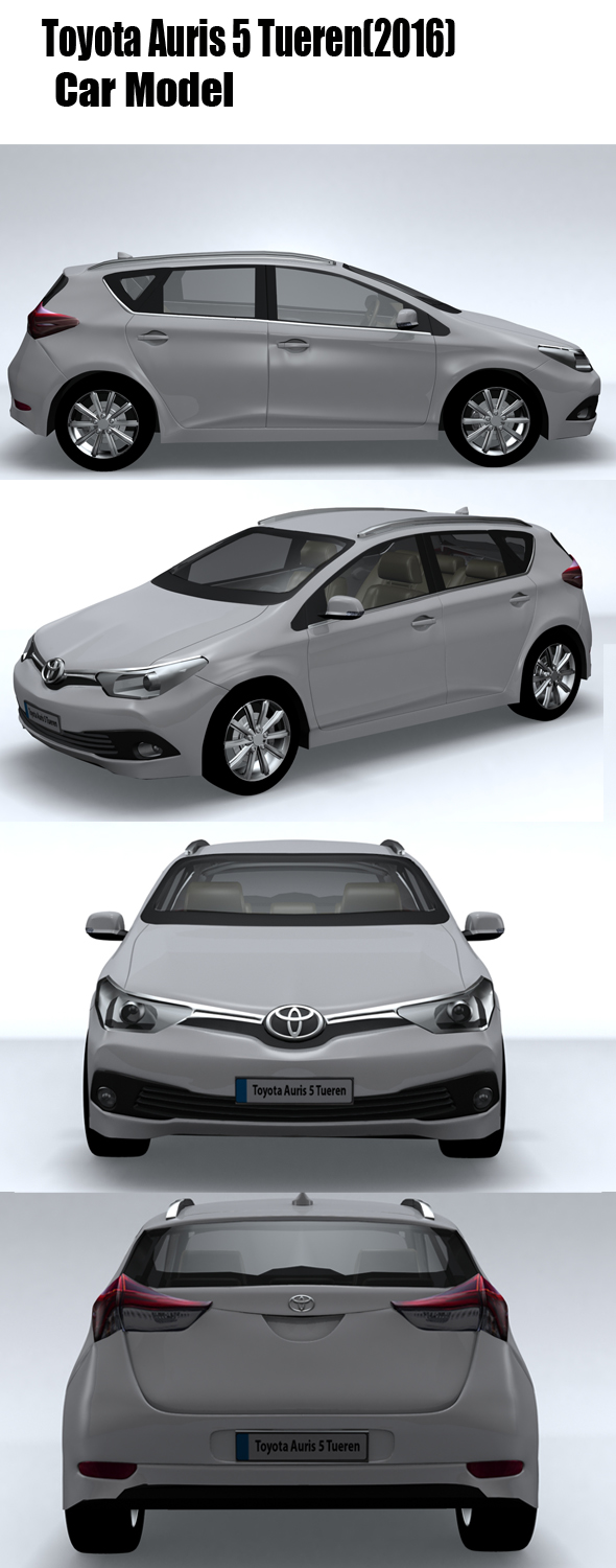 Toyota Auris 5 Tueren (2016) - 3DOcean Item for Sale