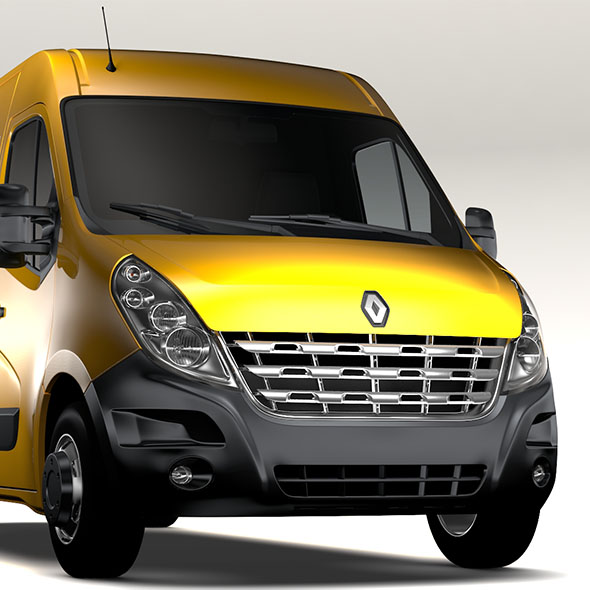 Renault Master L3H2 Van 2010 - 3DOcean Item for Sale