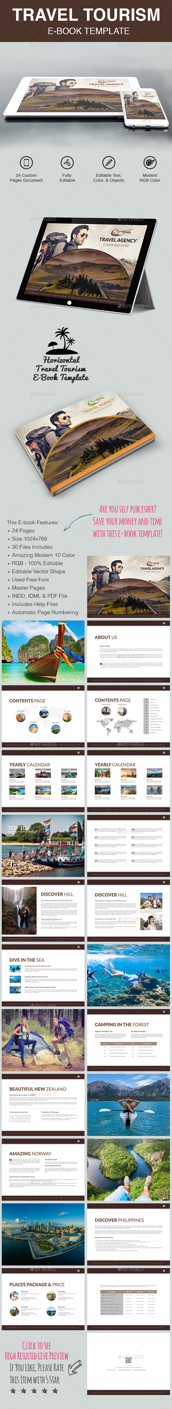 Travel Tourism E-Book Template - Digital Books ePublishing