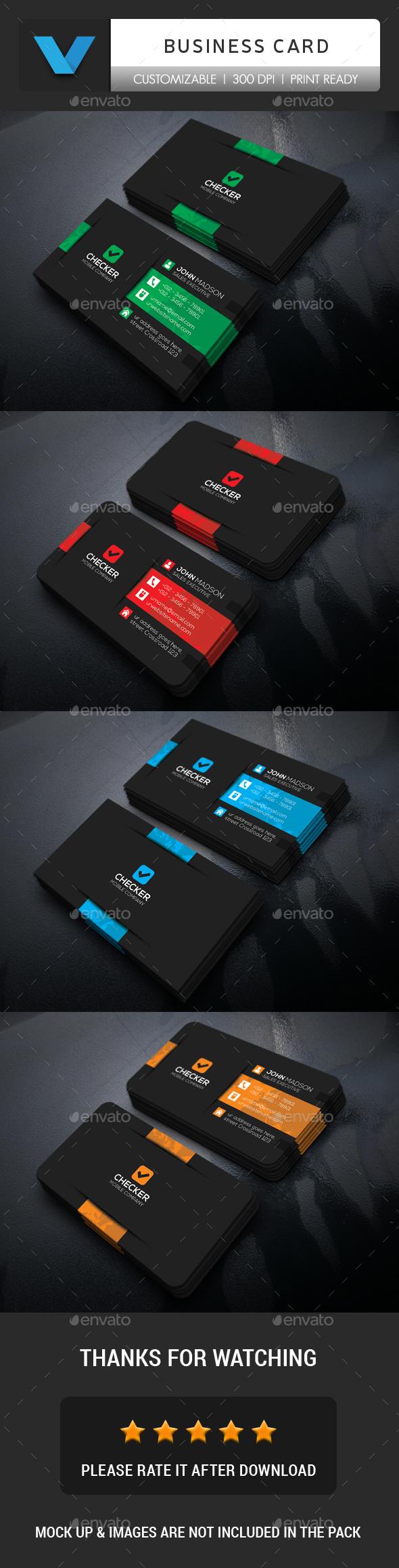 GraphicRiver Dark Business Card 20471418