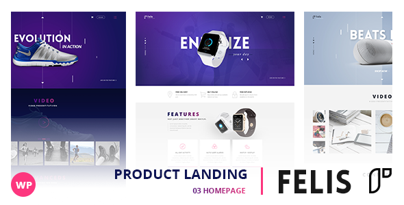 Felis – WordPress Product Landing Page