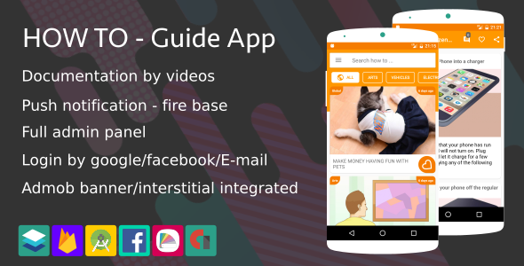 How To - Guide App (Notification,Login social,Material design ...) - CodeCanyon Item for Sale