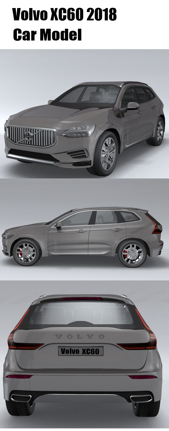 Volvo-XC60-2018 - 3DOcean Item for Sale