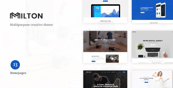 Milton | Multipurpose Creative WordPress Theme - Creative WordPress