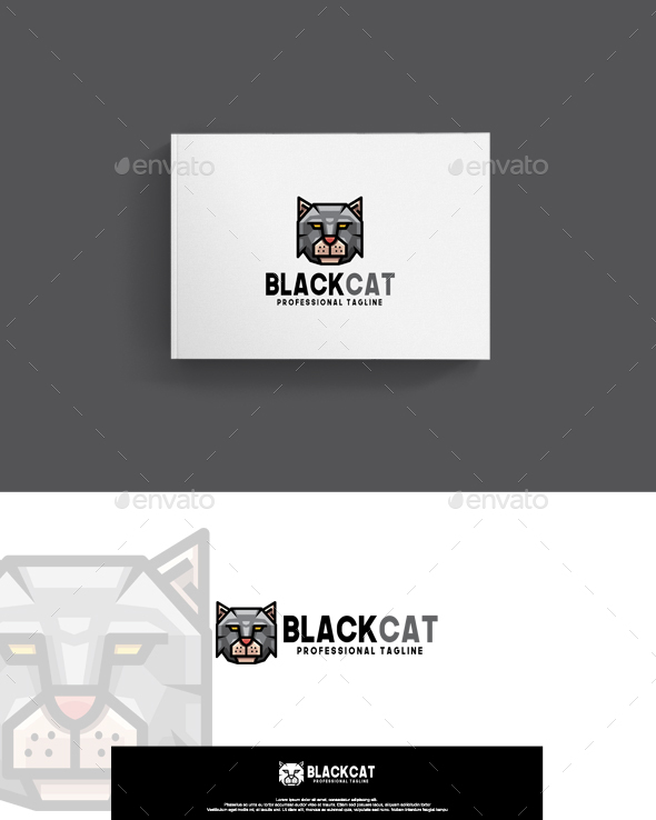 GraphicRiver Black Cat Logo 20471776