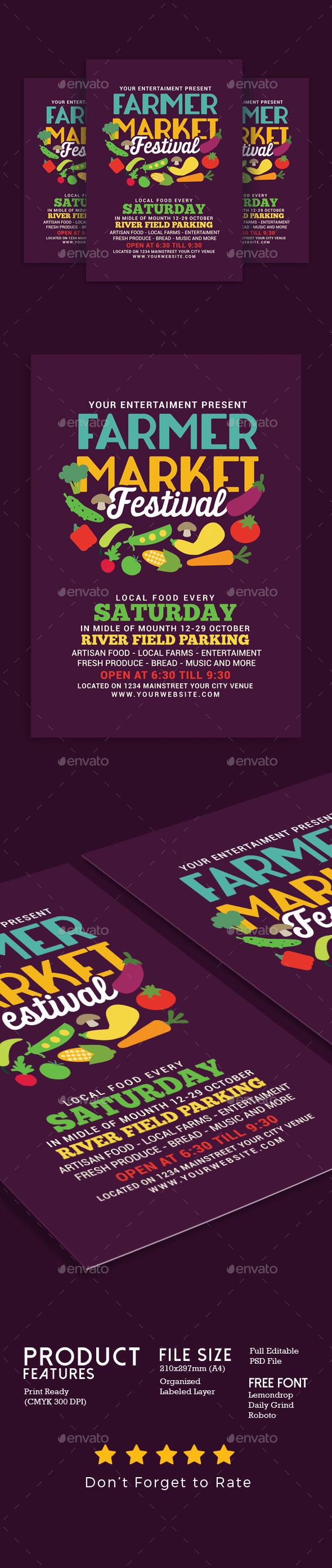Farmer Market Festival - Events Flyers