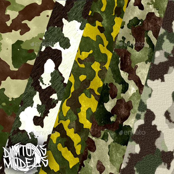 Textures camouflage - 3DOcean Item for Sale