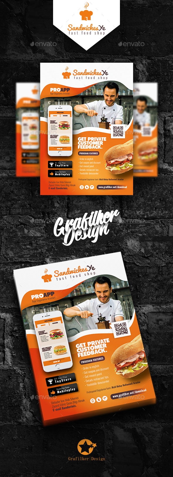 Mobile App Flyer Templates - Corporate Flyers