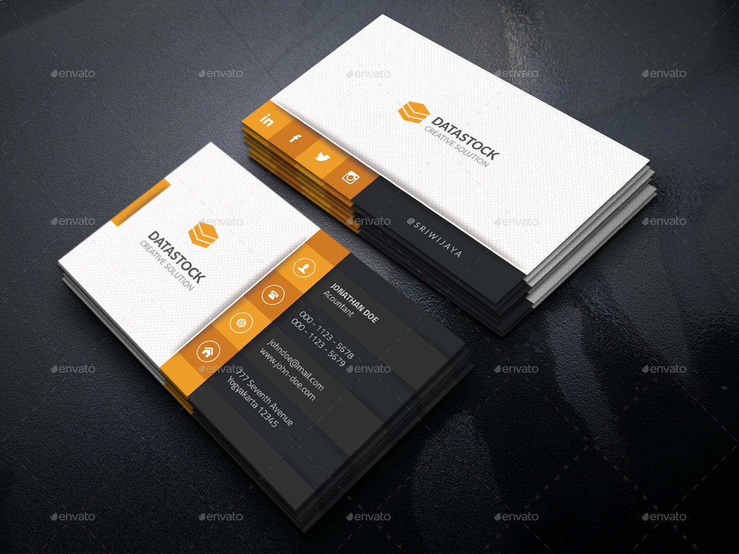 Corporate Business Card by GOWES | GraphicRiver