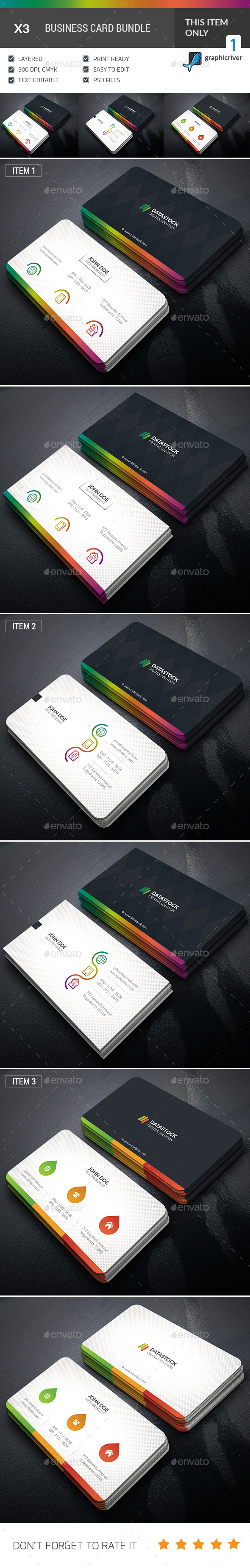 GraphicRiver Professional Business Card Bundle 20471968