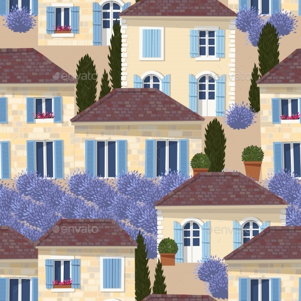 GraphicRiver French Town Seamless Pattern 20472005