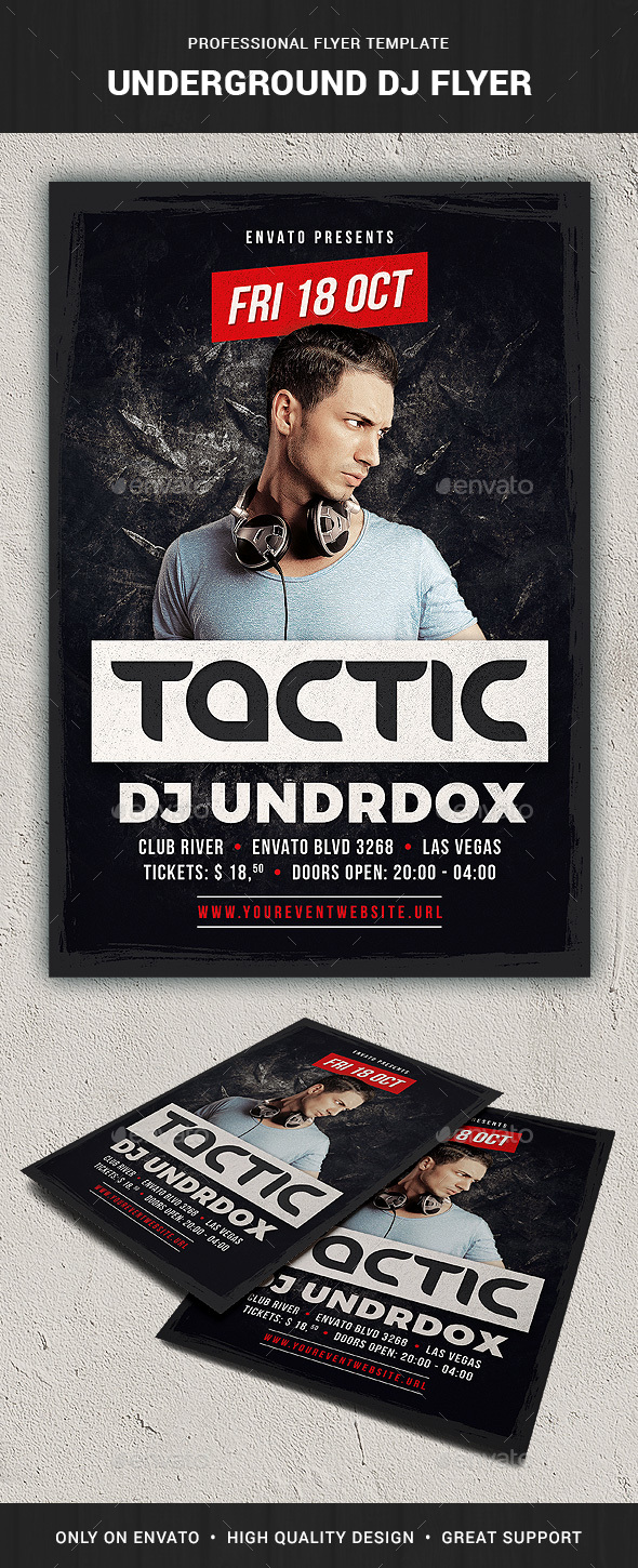 Underground DJ Flyer Template - Clubs & Parties Events