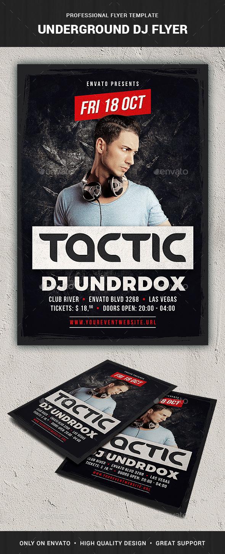 GraphicRiver Underground DJ Flyer Template 20465638