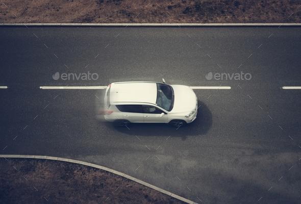Speeding Car Top View
