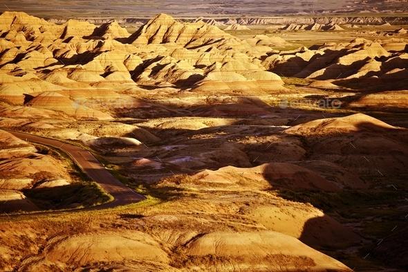 South Dakota Badlands Landscape - Stock Photo - Images
