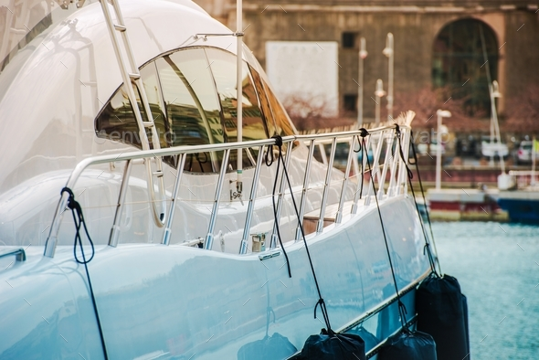 Modern Luxury Yacht Sailing